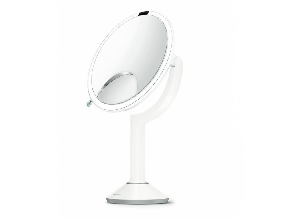 Stolní kosmetické zrcadlo s LED osvětlením a dotykovým ovládáním Simplehuman Sensor TRIO, 20 cm | bílá