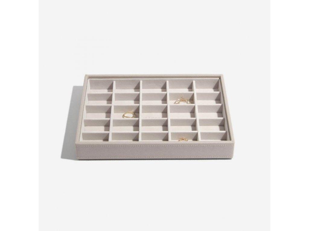 Box na šperky Stackers Taupe Classic 25   šedobéžová