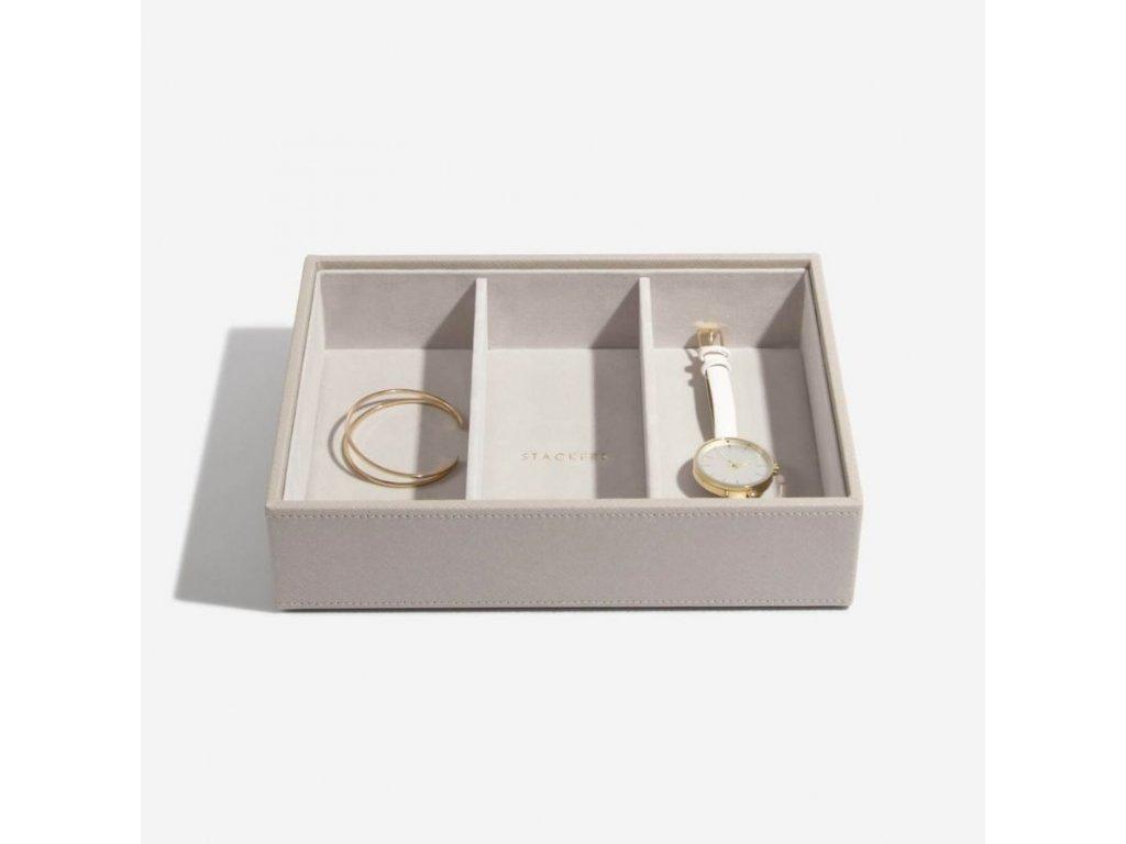 Box na šperky Stackers Taupe Deep Watch/Accessories   šedobéžová