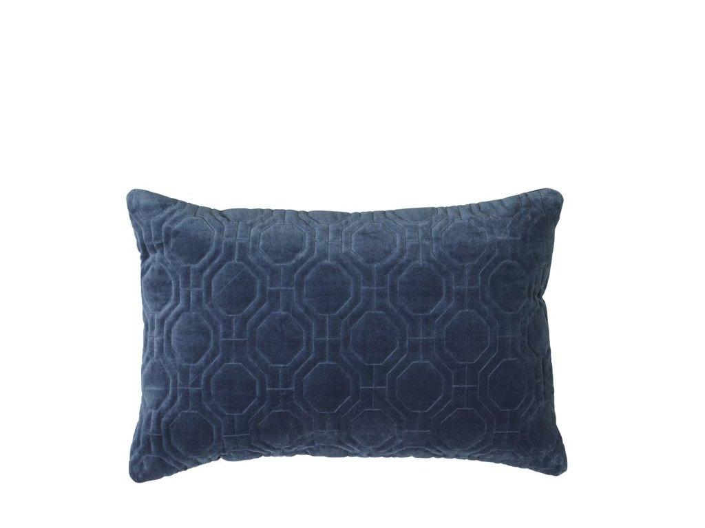 Povlak na polštář Broste Alva 60x40 cm | modrý