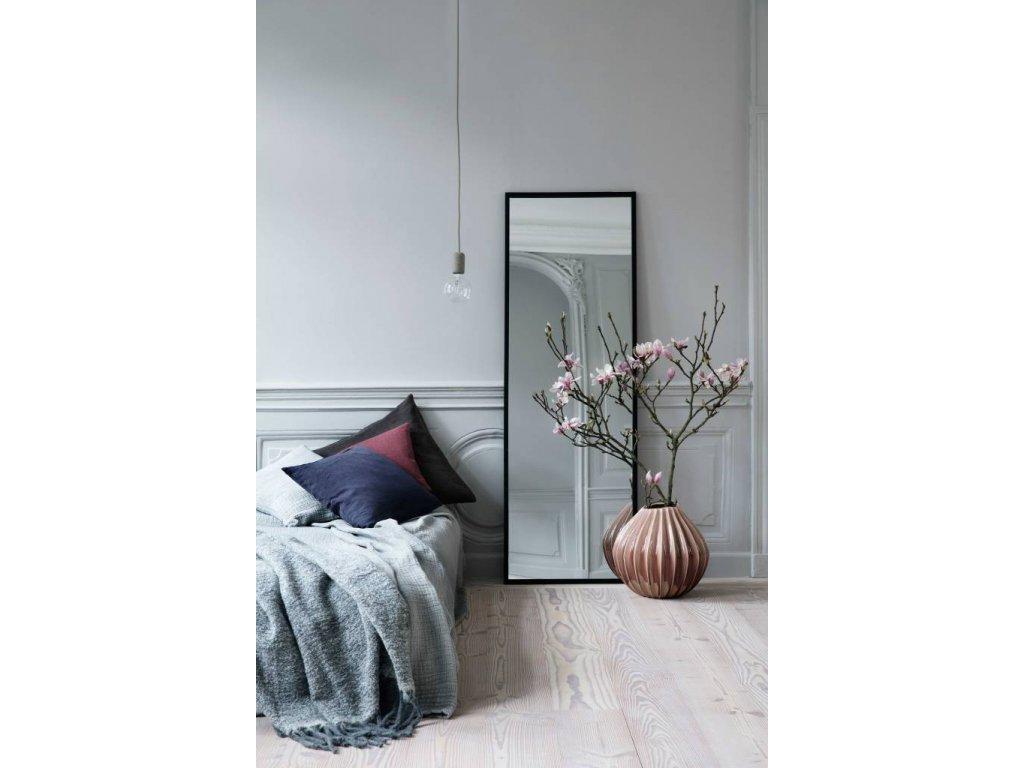 Zrcadlo Broste Talja 60x180 cm | černé