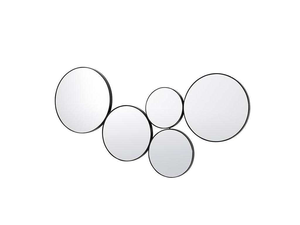 Sada zrcadel Broste Kunst set 5 ks | černá