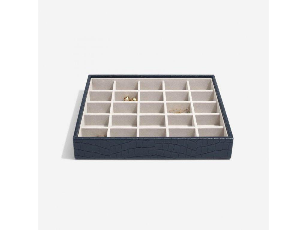 Box na šperky Stackers Navy Croc Classic 25 | tmavě modrá