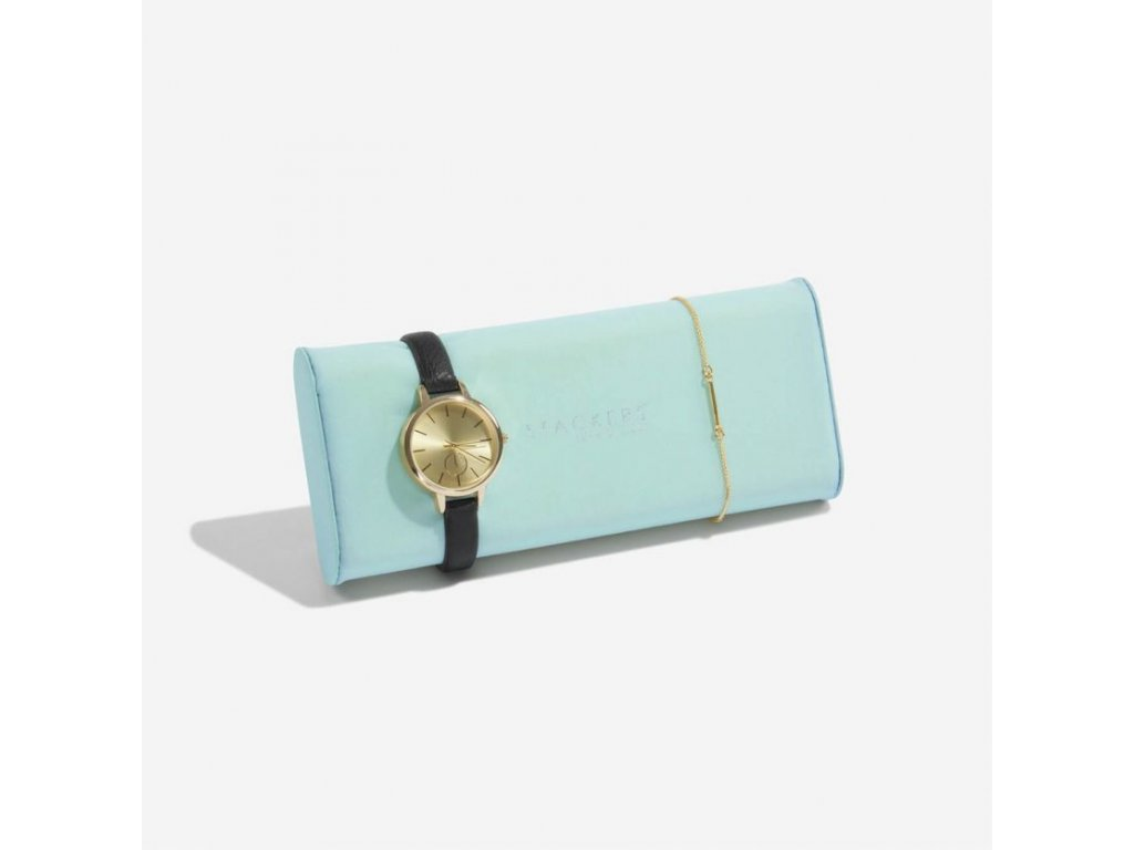 Polštář na hodinky do šperkovnice Stackers Mint Watch/Bracelet Pad | tyrkysová