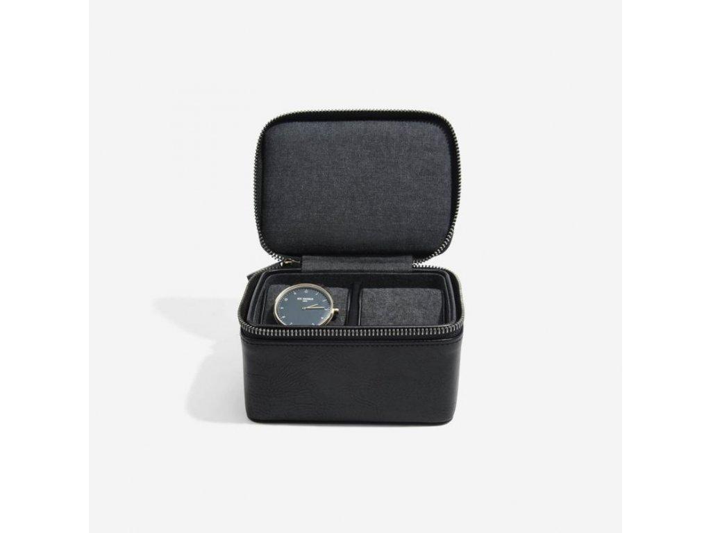 Pánská cestovní šperkovnice na hodinky Stackers Black Large Travel Watch Box   černá