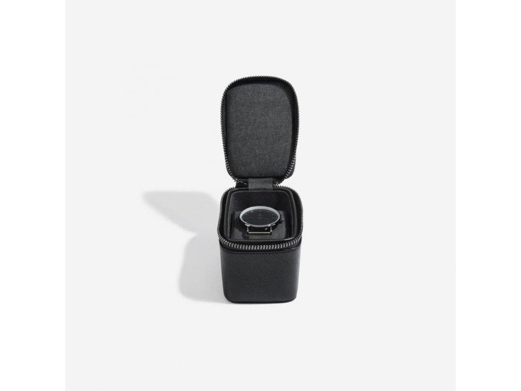 Pánská cestovní šperkovnice na hodinky Stackers Black Small Travel Watch Box | černá