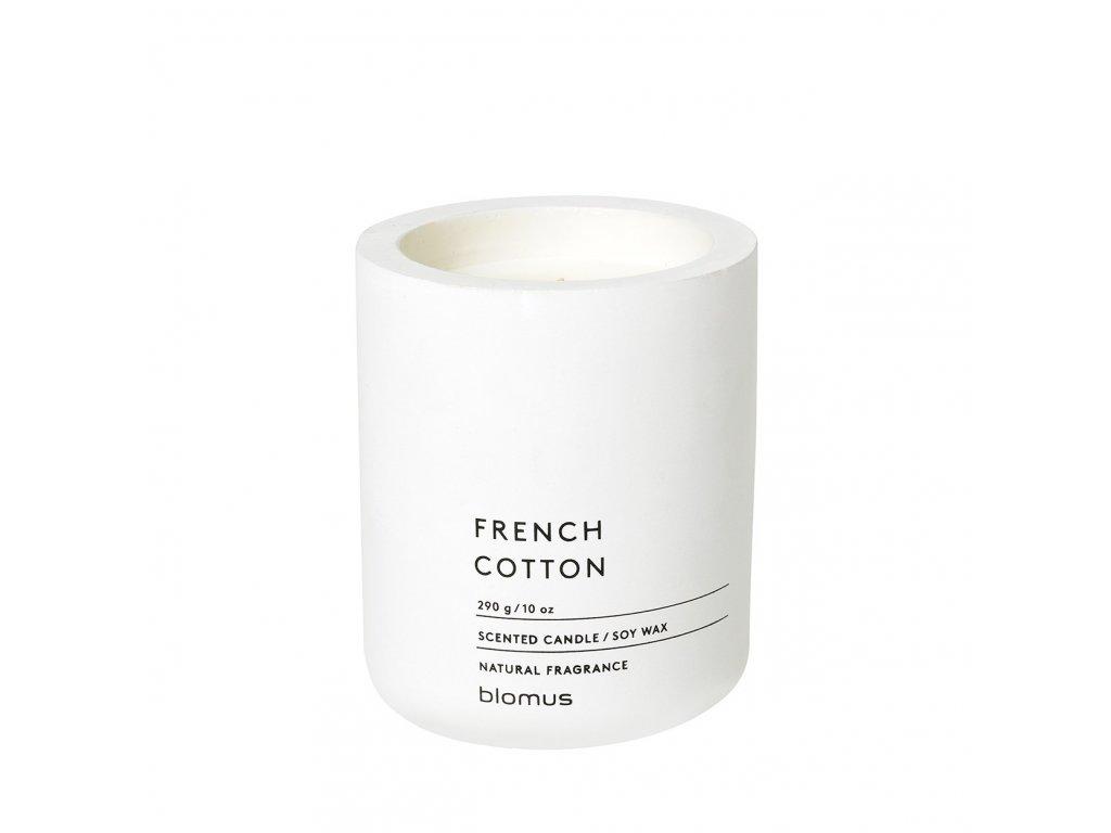 Vonná svíčka Blomus Fraga L French cotton | bílá