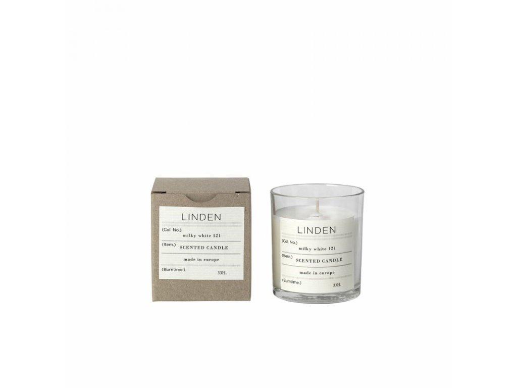 Vonná čajová svíčka Broste Linden | bílá
