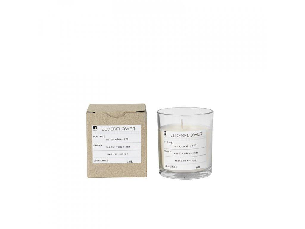 Vonná čajová svíčka Broste Elderflower | bílá