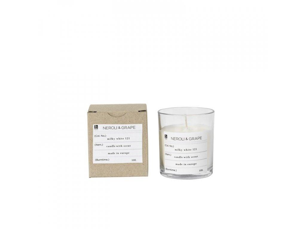 Vonná čajová svíčka Broste Neroli & Grape   bílá