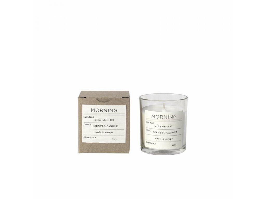 Vonná čajová svíčka Broste Morning | bílá
