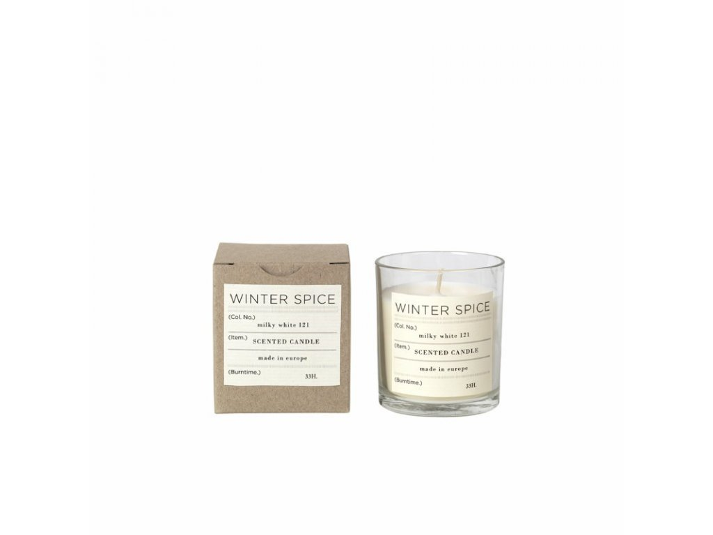 Vonná čajová svíčka Broste Winter spice | bílá