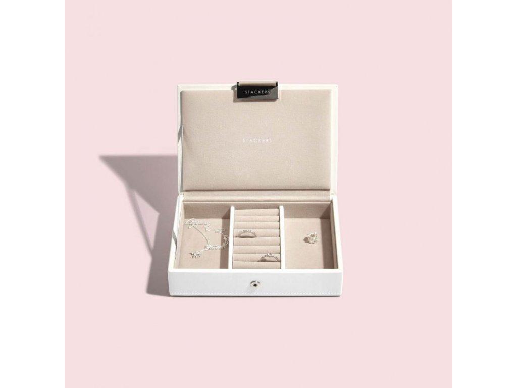 Šperkovnice Stackers White Mini Lid   bílá