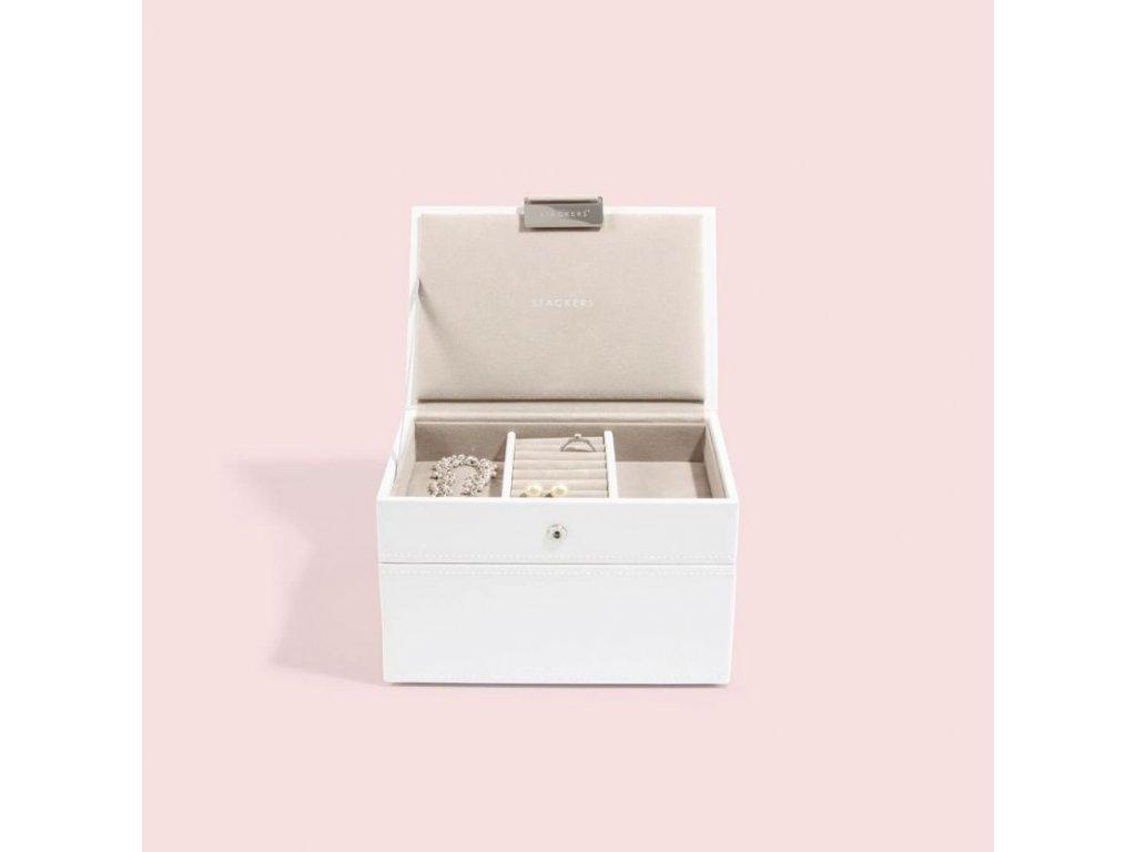 Šperkovnice Stackers White Mini | bílá