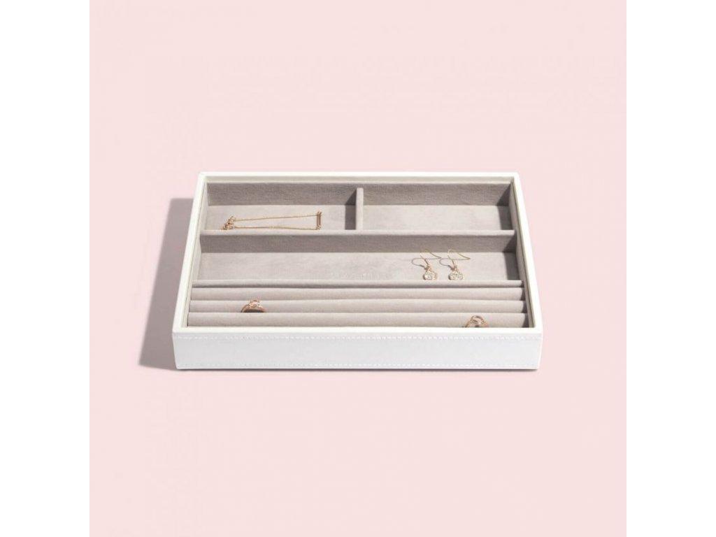 Box na šperky Stackers White Classic Ring & Braclets   bílá