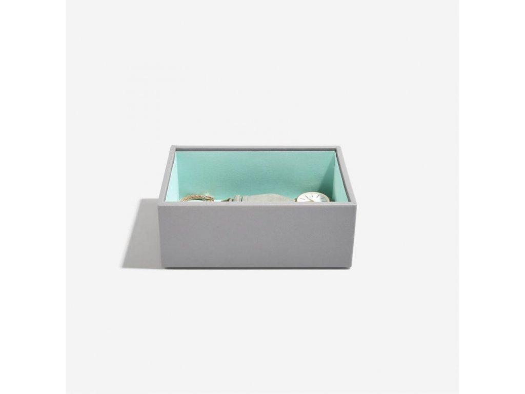 Box na šperky Stackers Grey Mint Mini Open Layer | šedobéžová