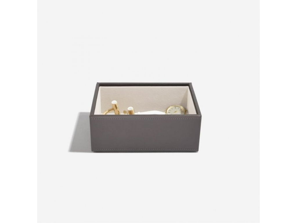 Box na šperky Stackers Mink Mini Open Layer   kávová