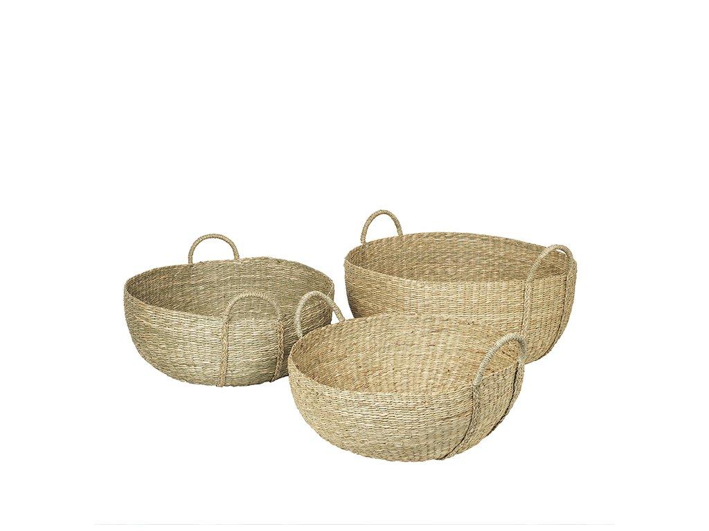 Sada 3 košíků Broste Astrid Sea Grass | přírodní