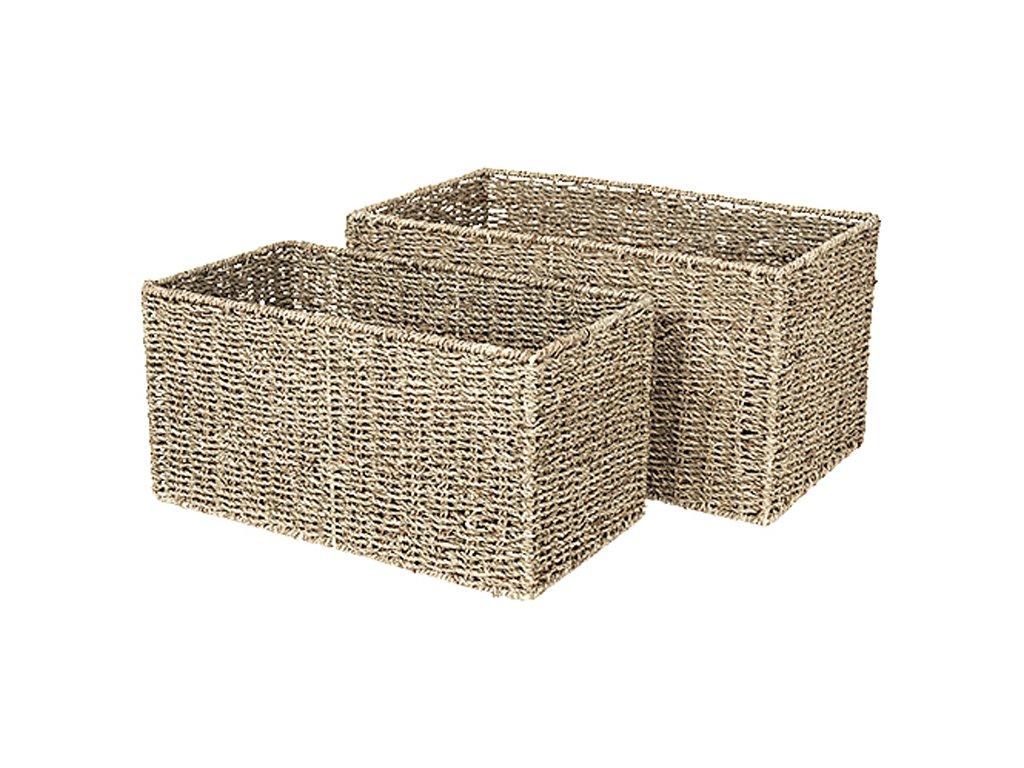 Sada 2 hranatých košíků Broste Astrid Sea Grass | přírodní