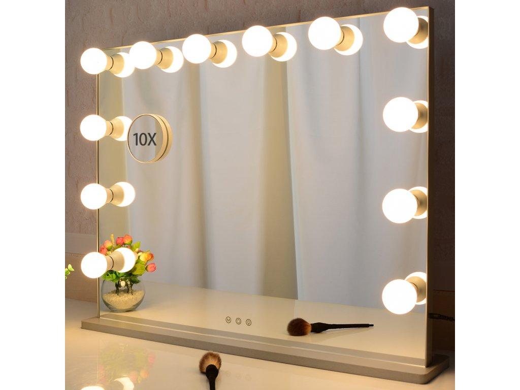 Stolní zrcadlo make-up MMIRO bez rámu 56,3x72 cm | stříbrná