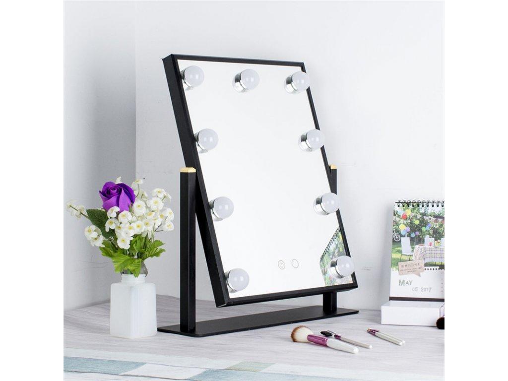 Stolní zrcadlo make-up MMIRO 43 x 37 cm | černá
