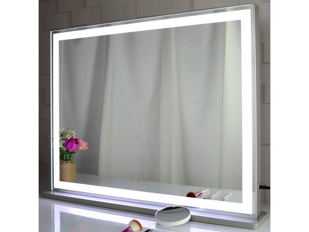 Stolní zrcadlo make-up MMIRO 56,3x72 cm | stříbrná