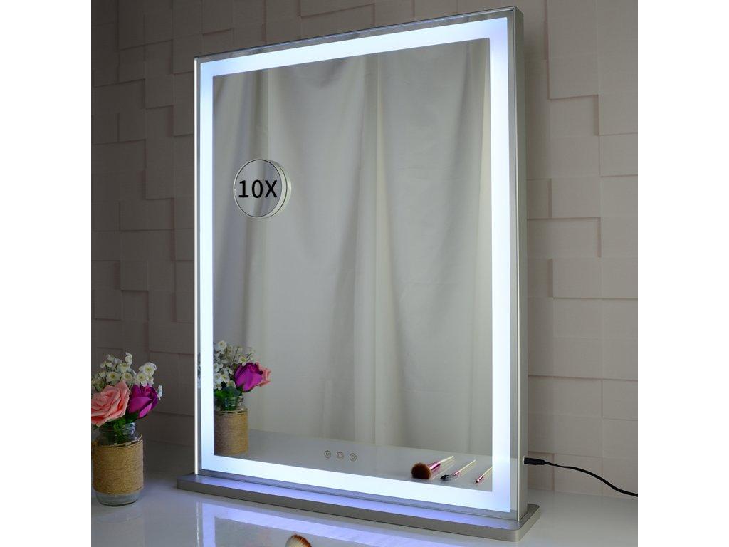 Stolní zrcadlo make-up MMIRO 71 x 57 cm   stříbrná