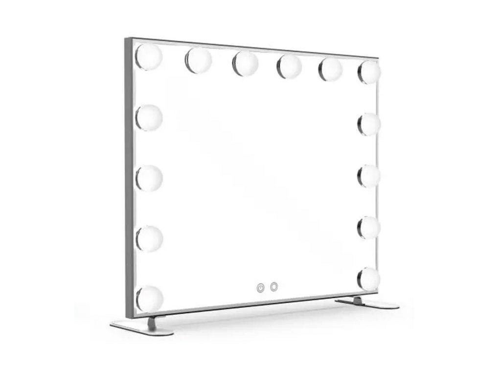Hollywoodské make-up zrcadlo s osvětlením MMIRO 60 x 53 cm | stříbrná
