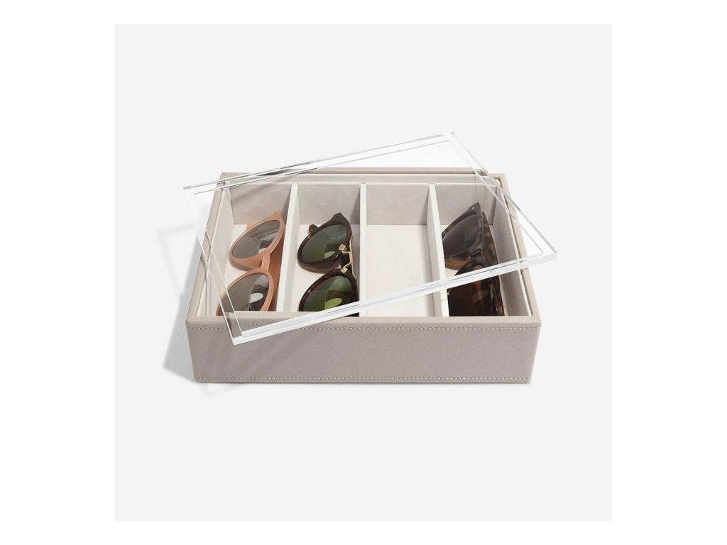 Box na slunečné brýlí Stackers Taupe Classic Glasses/Accessory | šedobežová