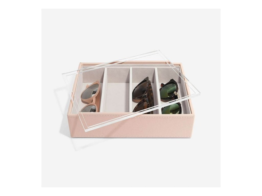 Box na slunečné brýlí Stackers Blush Classic Glasses/Accessory   růžová