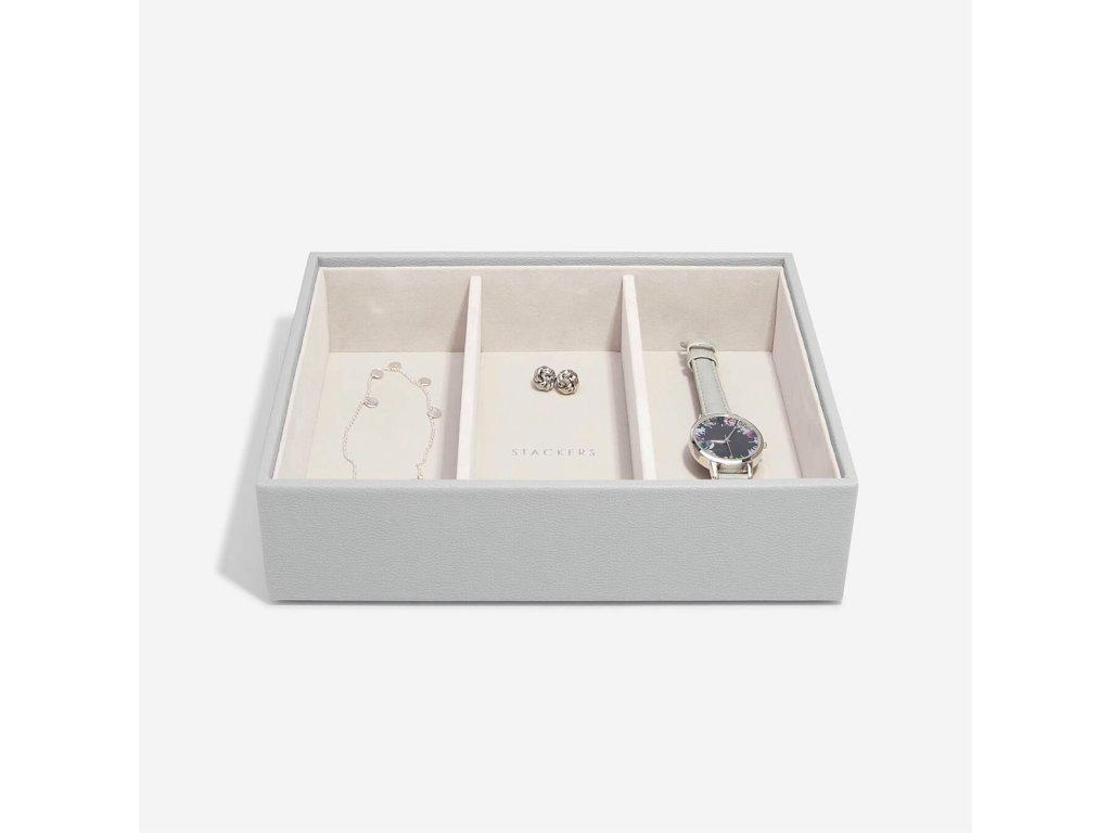 Box na šperky Stackers Pebble Grey Deep Watch/Accessories   šedá