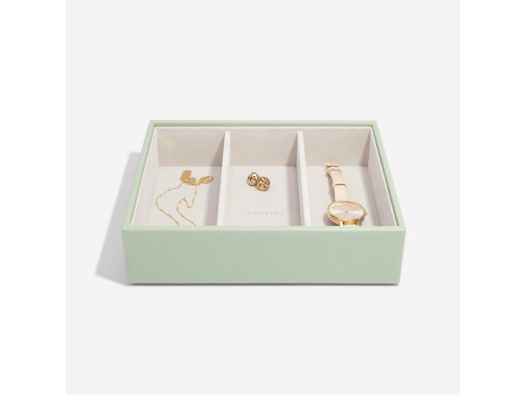 Box na šperky Stackers Sage Green Deep Watch/Accessories   zelená