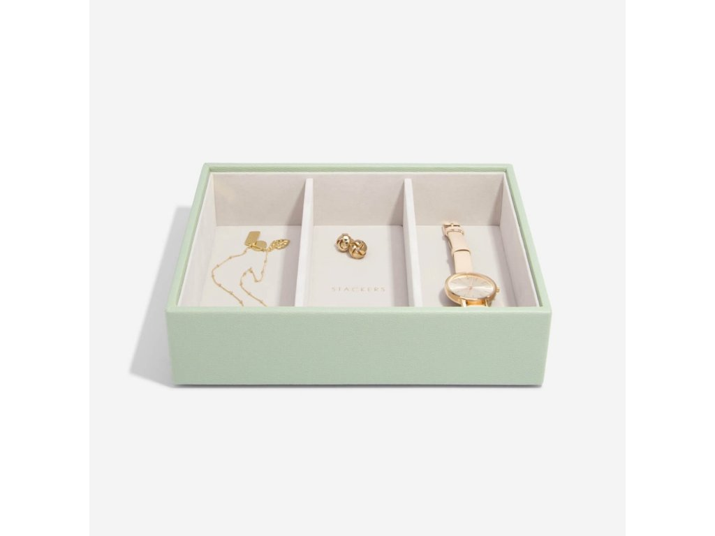 Box na šperky Stackers Sage Green Deep Watch/Accessories | zelená