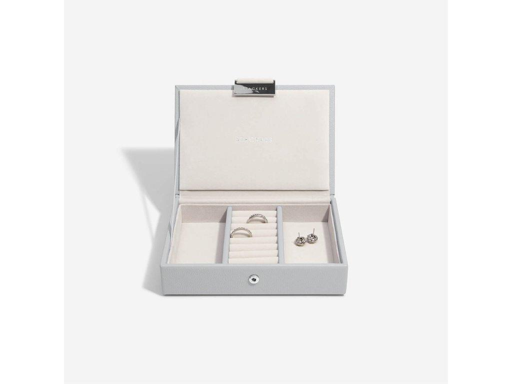 Šperkovnice Stackers Pebble Grey Mini Lid | šedá