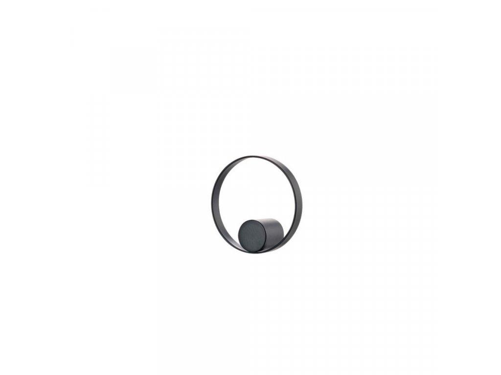 Háček do koupelny Zone Denmark Hooked On Rings 7,6 cm Black    černá