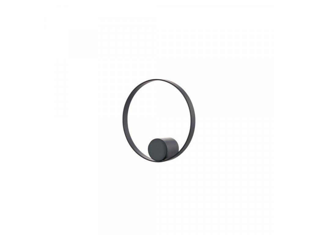 Háček do koupelny Zone Denmark Hooked On Rings 10cm Black | černá