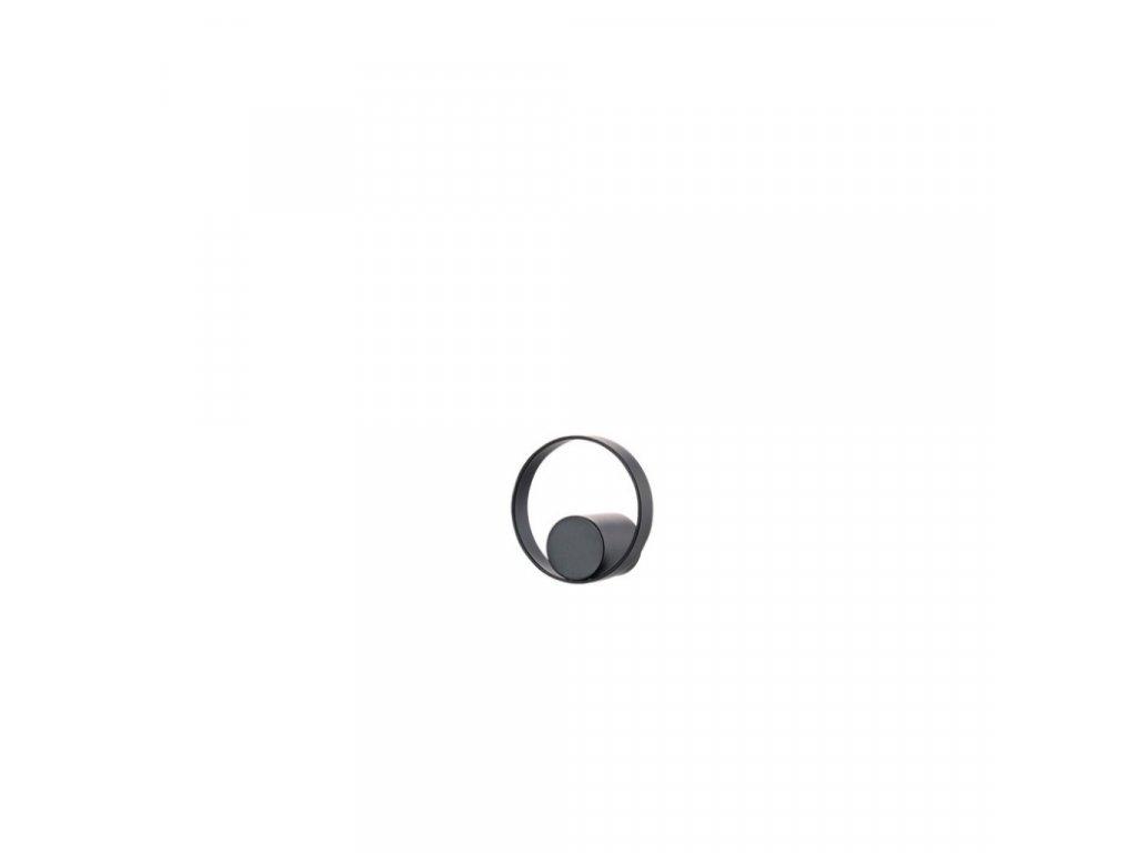 Háček do koupelny Zone Denmark Hooked On Rings 4,7cm Black | černá