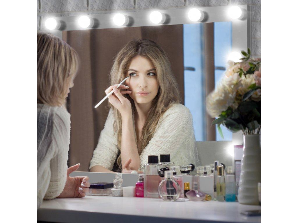 Stolní zrcadlo make-up MMIRO 100 x 80 cm | stříbrná