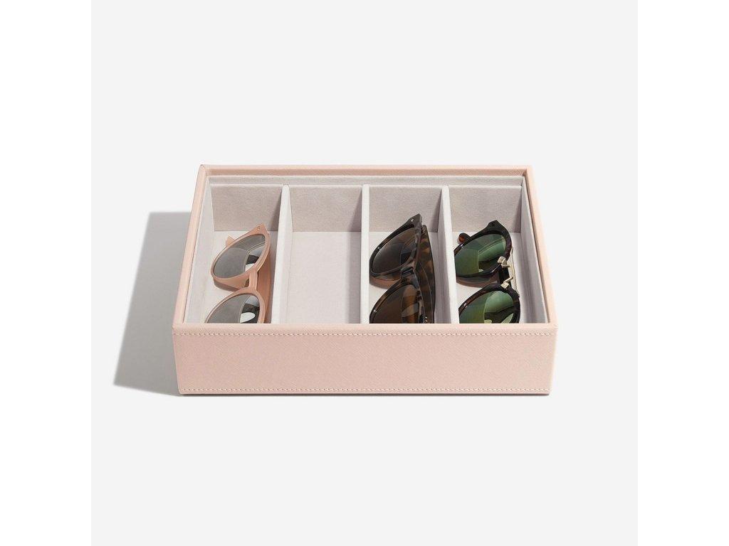 Box na sluneční brýle Stackers Blush Classic Glasses & Accessory Layer | růžová