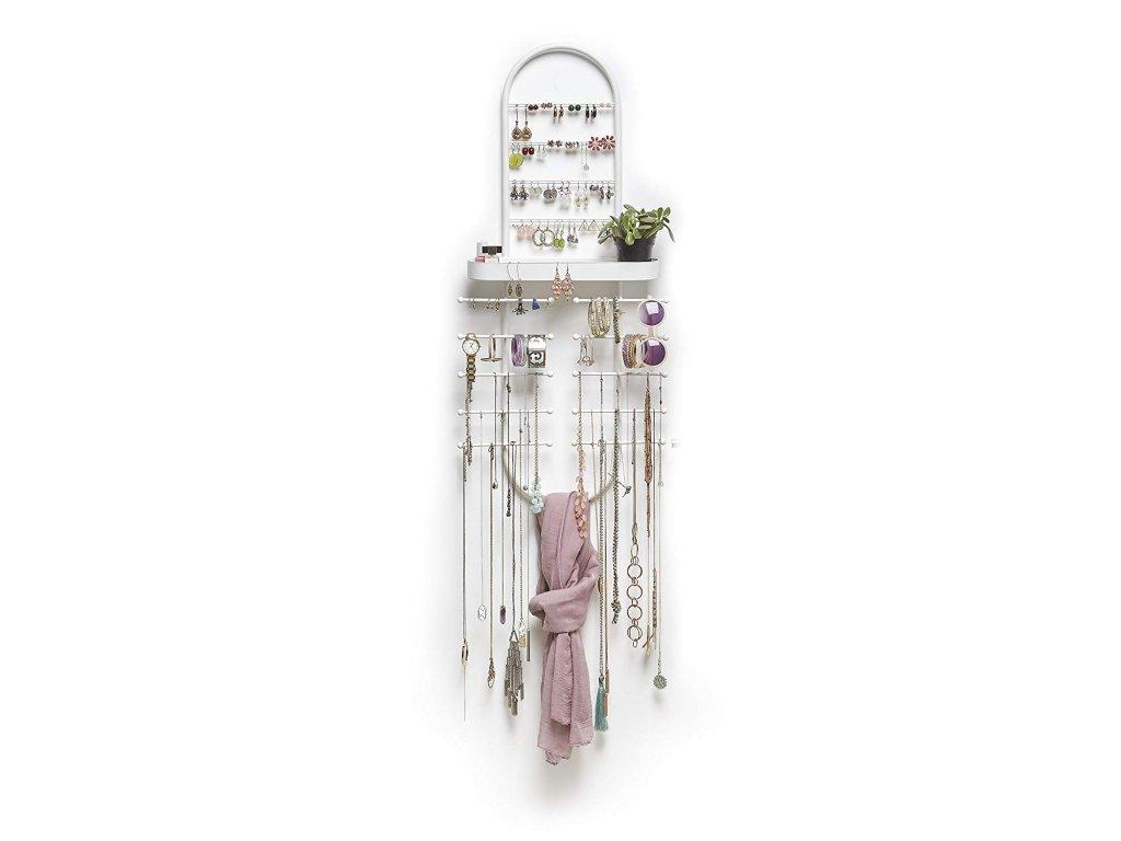 Organizér na šperky na dveře či stěnu Umbra Valerina | bílá