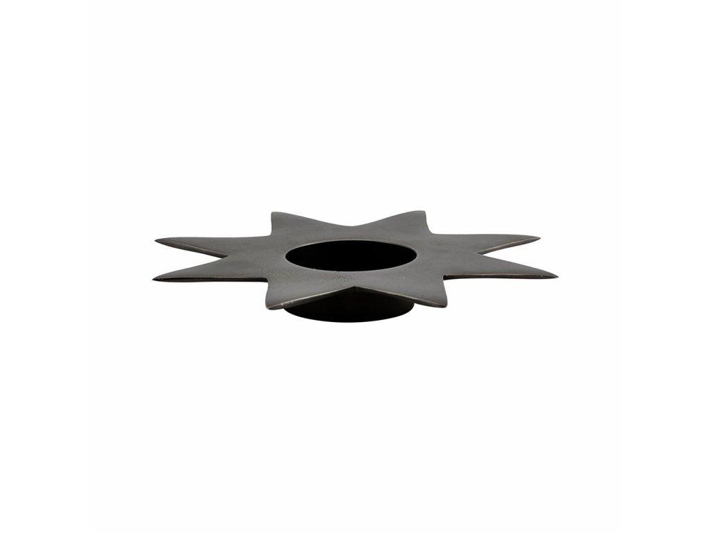 0052860 kovovy svicen star p22 cm anticky kov 0