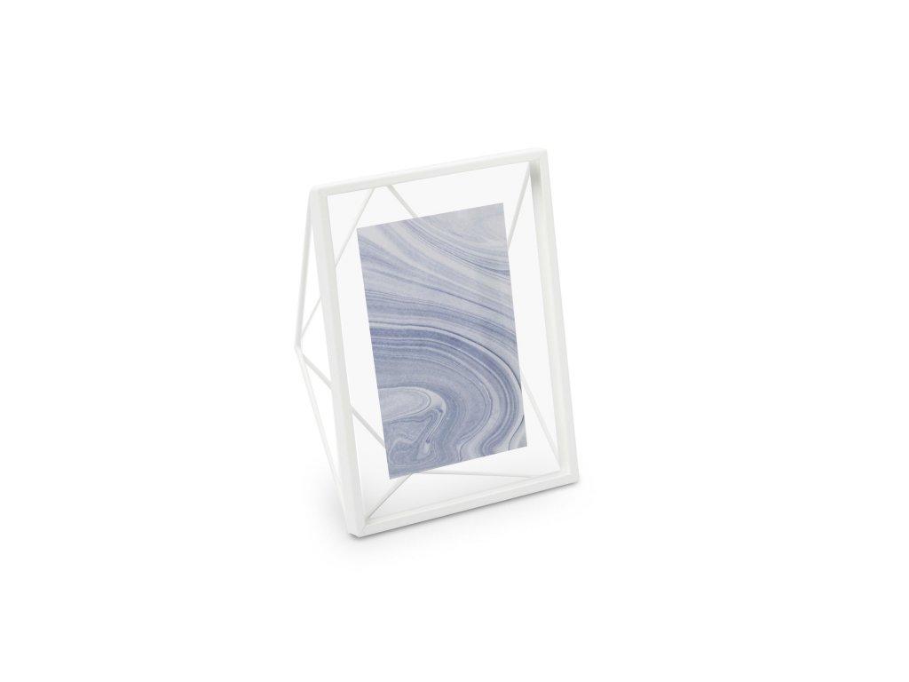 Geometrický fotorámeček Umbra Prisma 10 x 15 cm   bílý