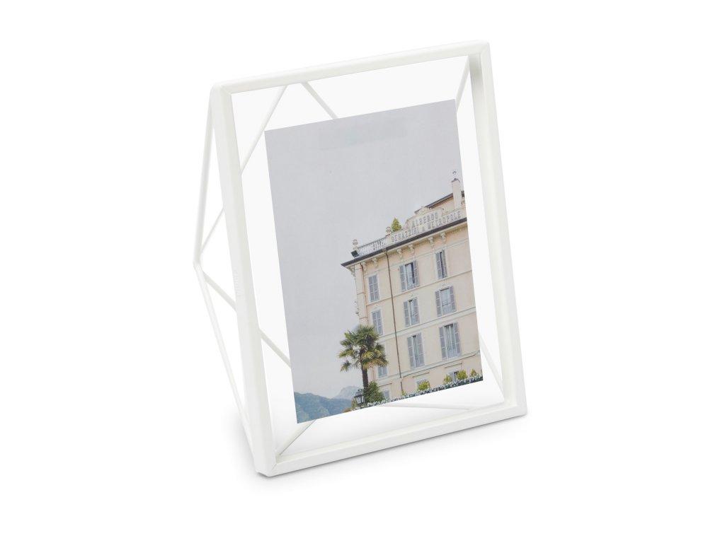 Geometrický fotorámeček Umbra Prisma 20 x 25 cm   bílý