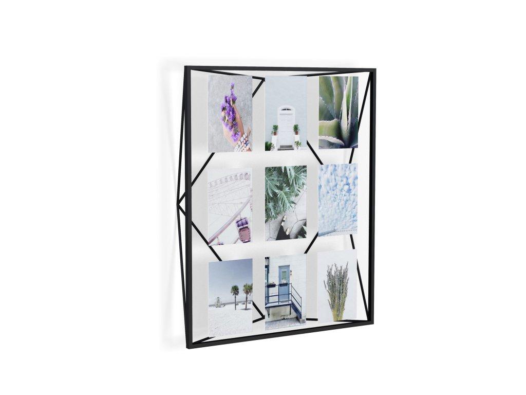 Geometrický fotorámeček na 9 fotek Umbra Prisma Gallery | černý