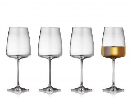 Sklenice na bílé víno Lyngby Glas Zero 430 ml 4ks