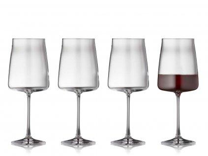 Sklenice na červené víno Lyngby Glas Zero 540 ml 4ks