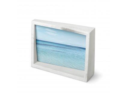 Fotorámeček Umbra Edge Marble 10x15 | bílý mramor