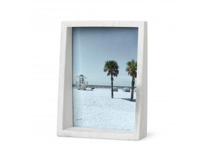 Fotorámeček Umbra Edge Marble 13x18 | bílý mramor