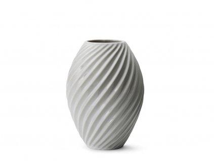 Porcelánová váza Morso River White, 21 cm | bílá