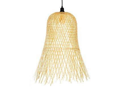 lampara de techo grande de bambu acampanada